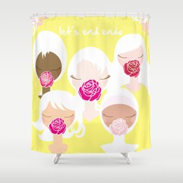 Let's End Endo - It's Okay to Talk Shower Curtain