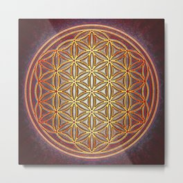 Flower Of Live - Ring Of Fire II Metal Print