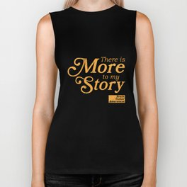 Brain Tumors Awareness TShirt - There is More To My Story Biker Tank