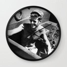 JFK Navy Boat Wall Clock