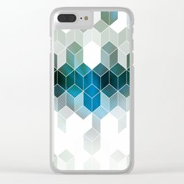 Hues of Blue Clear iPhone Case