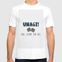 UNAGI, ahh salmon skin roll T-shirt