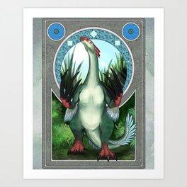 Nouveau - Therizinosaurus Art Print