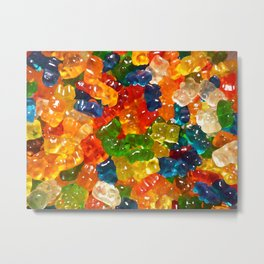 Gummy Bears by Squibble Design Metal Print