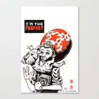 tintin Canvas Prints featuring I'm the prophet / Tintin and Snowy by remedact