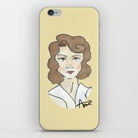 peggy carter iPhone & iPod Skins featuring Peggy Carter by Ash AROUH