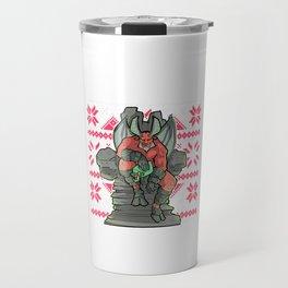 Ugly Christmas Satan Claus Satanic Santa Gothic Occult Goth Travel Mug