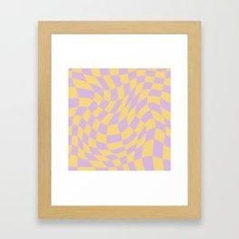 Play Checkers Lavender Framed Art Print
