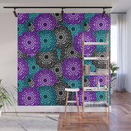 Dahlia Multicolored Floral Abstract Pattern Wall Mural