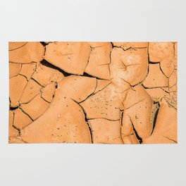 Cracked Terrain in Morocco Rug