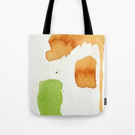 Orange and Green Abstract Art Tote Bag