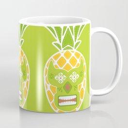 Tiki Lucha Libre Yellow and Chartreuse Coffee Mug
