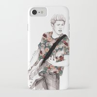 niall iPhone & iPod Cases featuring Floral Niall by Coconut Wishes