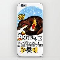 platypus iPhone & iPod Skins featuring Platypus by Ricardo Cavolo