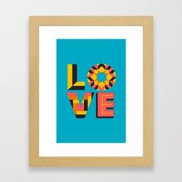 LOVE - Turquoise Framed Art Print