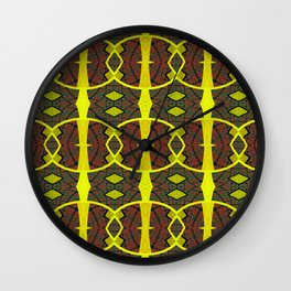 Vintage African Ovals Fabric Geometry Wall Clock