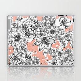 B&W Flowers Coral Laptop & iPad Skin