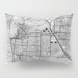 Vintage Map of Ottawa Canada (1915) BW Pillow Sham
