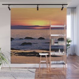 Summer's Glow and the Circle of Rocks Wall Mural