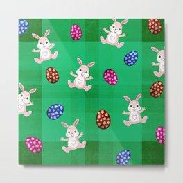 Easter Bunny Pattern ( Version II ) Metal Print