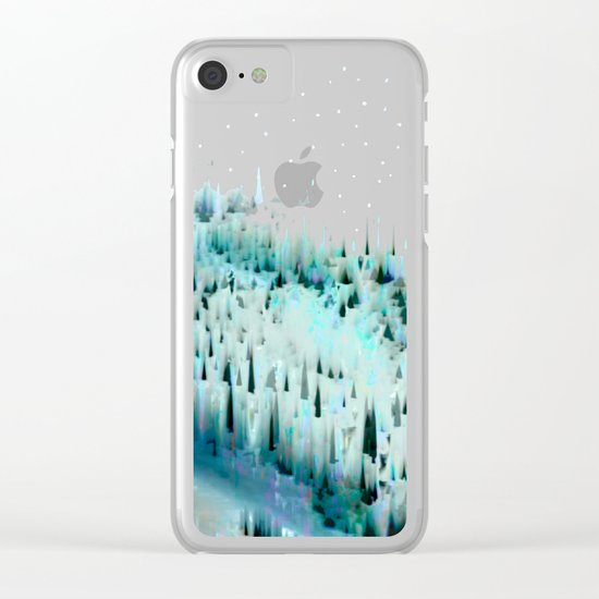 White Christmas / Snow 20-11-16 Clear iPhone Case