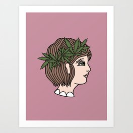 Cannabis Lady Art Print
