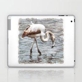 Knee Deep Flamingo Watercolor Laptop & iPad Skin