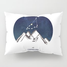 Astrology Capricorn Zodiac Horoscope Constellation Star Sign Watercolor Poster Wall Art Pillow Sham