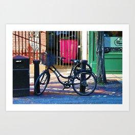 London Street Scene  - Parked Bicycle Art Print