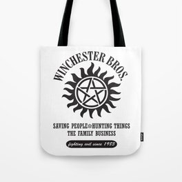 SUPERNATURAL WINCHESTER BROTHERS DEAN AND SAM Tote Bag