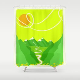 Minimalist Mountains Shower Curtain