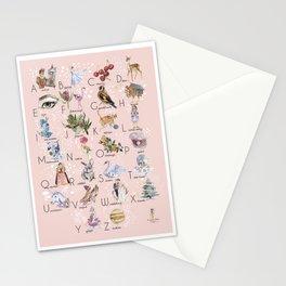 English alphabet for girls Stationery Cards