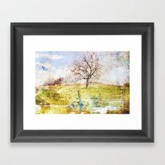 1tree_spring Framed Art Print