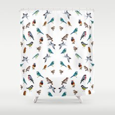 I love birds Shower Curtain
