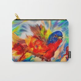 Rainbow Bird Carry-All Pouch