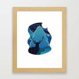 Hello Deer Winter Framed Art Print
