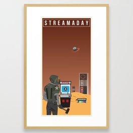 Stream A Day Framed Art Print