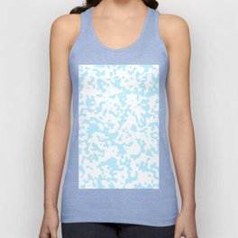 Spots - White and Light Blue Unisex Tank Top