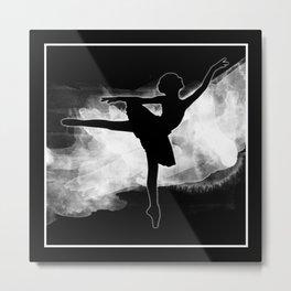 Monochromatic Study of Dance Metal Print