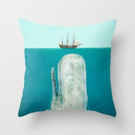 The Whale Throw Pillow