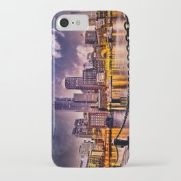 Skyline of Boston Harbor iPhone Case