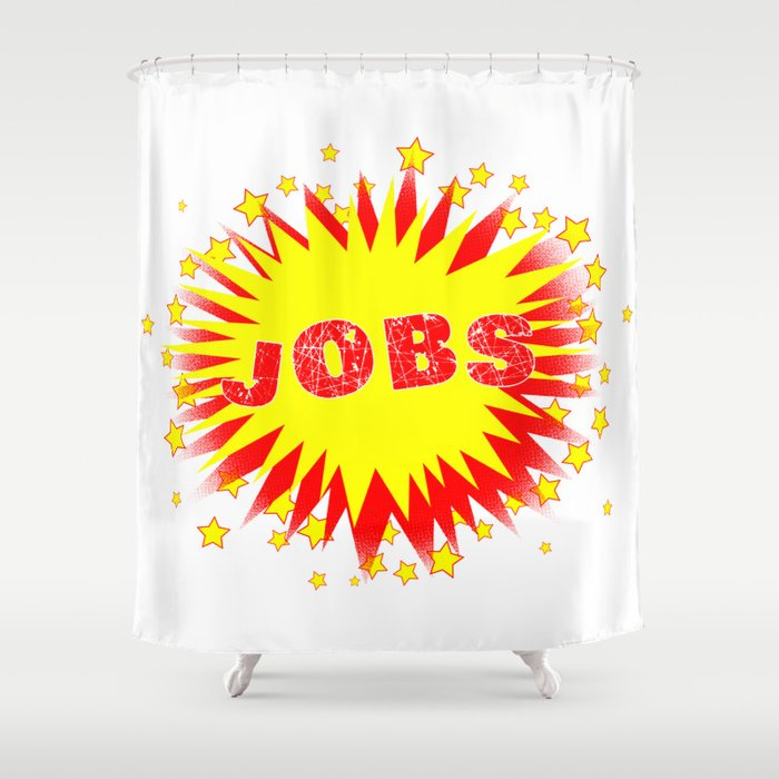 Cartoon Yellow Jobs Splash Shower Curtain