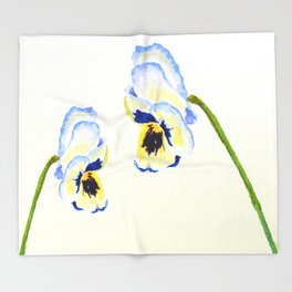 one  pansy Throw Blanket