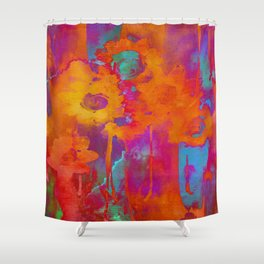 bright abstract bouquet Shower Curtain