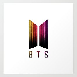 BTS - Wings logo (digital stripes) | Army | Kpop | RM, Suga, Jin, Jimin, J-Hope, Jungkook, V Art Print