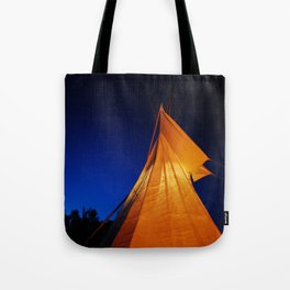 My Tipi At Dusk Tote Bag