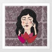make up Art Prints featuring Make up by Judit Canela