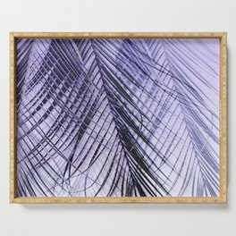 Palm Leaves On A Violet Background #decor #society6 #buyart Serving Tray