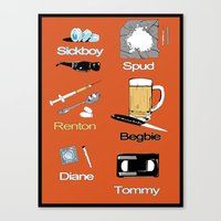 trainspotting Canvas Prints featuring Trainspotting vector by David Amblard