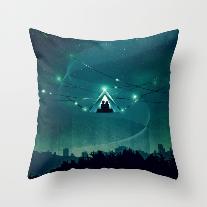 Wireless Camping Throw Pillow